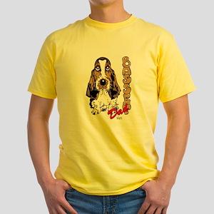 Basset dad Yellow T-Shirt