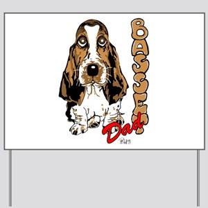 Basset dad Yard Sign