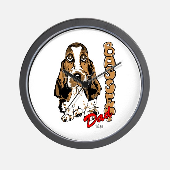 Basset dad Wall Clock