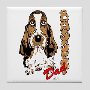 Basset dad Tile Coaster