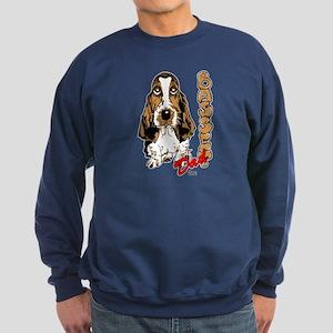 Basset dad Sweatshirt (dark)