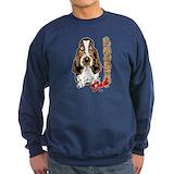 Basset hounds Sweatshirt (dark)