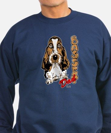 Basset dad Sweatshirt (dark)