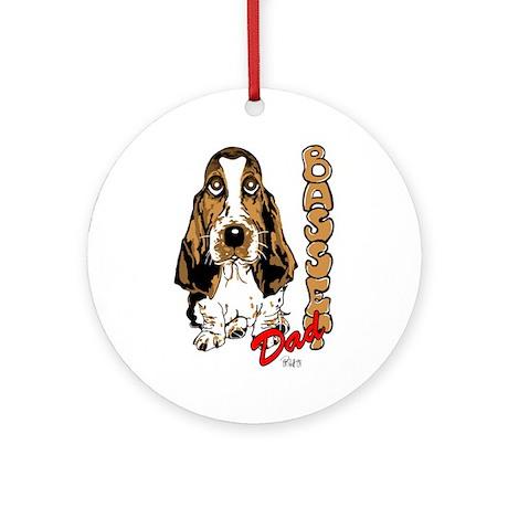 Basset dad Ornament (Round)