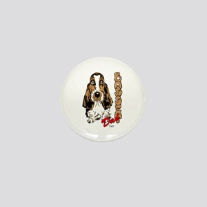 Basset dad Mini Button