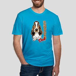Basset dad Men's Fitted T-Shirt (dark)