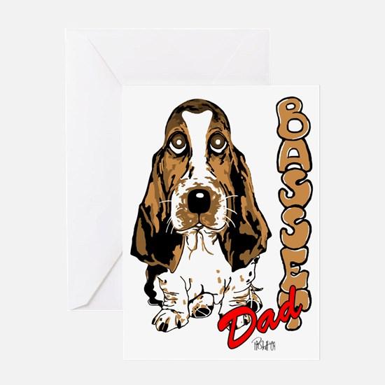 Basset dad Greeting Card