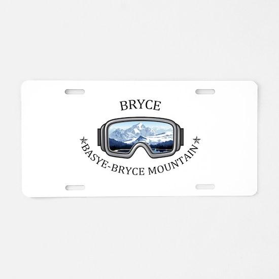 Bryce Resort - Basye-Bryc Aluminum License Plate