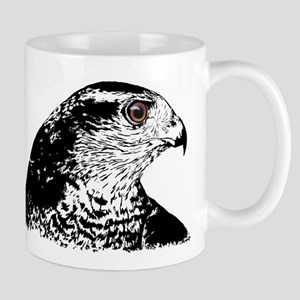 Goshawk B/W Mug