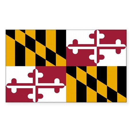 Maryland State Flag Rectangle Sticker