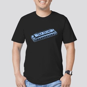 The Blues Harp Men's Fitted T-Shirt (dark)