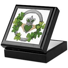 Silver Claddagh Keepsake Box
