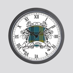 Laing Tartan Shield Wall Clock