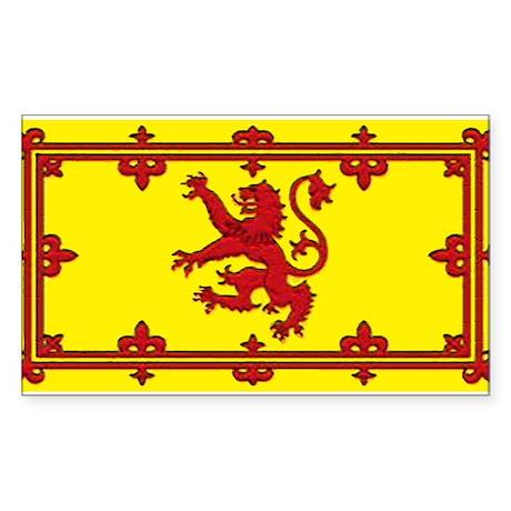 Scotland Scottish Blank Flag Rectangle Sticker