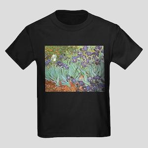 Van Gogh Irises Kids Dark T-Shirt