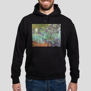 Van Gogh Irises Hoodie (dark)