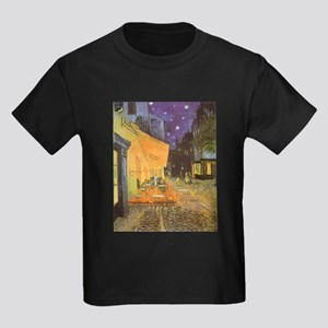 Van Gogh Cafe Terrace at Night Kids Dark T-Shirt