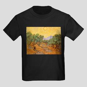 Van Gogh Olive Trees Yellow Sky And Sun Kids Dark
