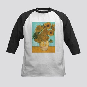 Van Gogh Vase with Sunflowers Kids Baseball Jersey