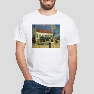 Van Gogh White House at Night White T-Shirt