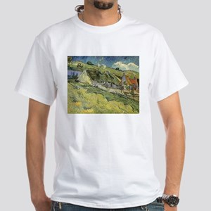 Van Gogh Thatched Cottages White T-Shirt