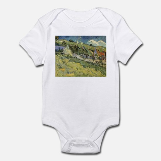 Van Gogh Thatched Cottages Infant Bodysuit