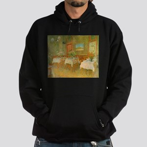 Van Gogh Interior of a Restaurant Hoodie (dark)