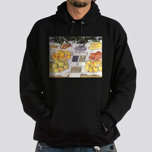 Fruit Stand by Caillebotte Hoodie (dark)