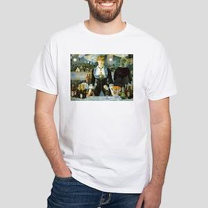 Manet, A Bar at the Folies-Bergere White T-Shirt