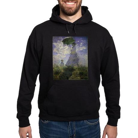 Claude Monet Woman w Parasol Hoodie (dark)