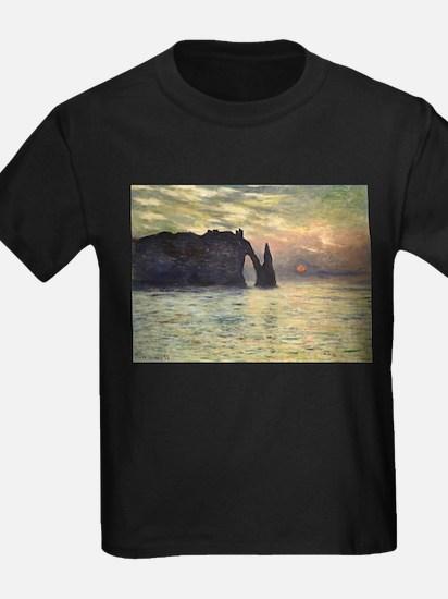 Claude Monet, Cliff Etretat Sunset T