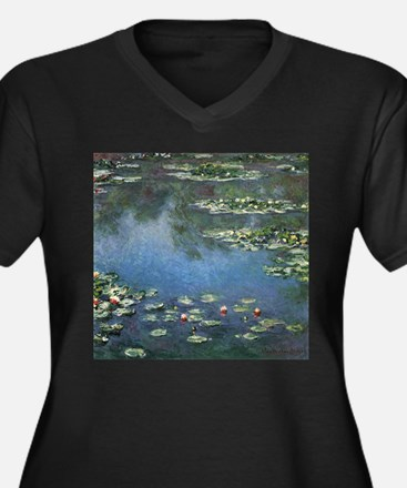 Waterlilies by Claude Monet Women's Plus Size V-Ne