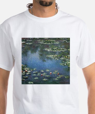 Waterlilies by Claude Monet White T-Shirt