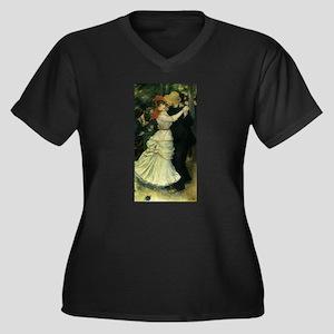 Dance at Bougival by Renoir Women's Plus Size V-Ne