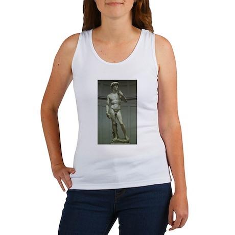 Statue of David by Michelangelo Women's Tank Top