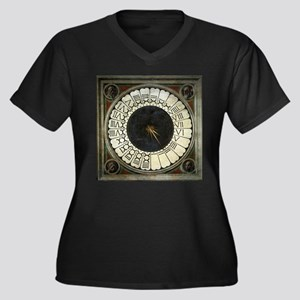 Clock in the Duomo by Uccello Women's Plus Size V-