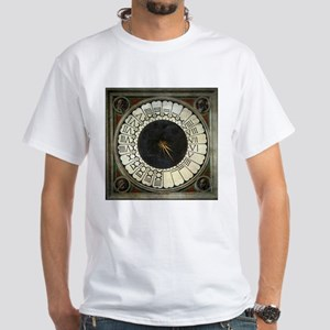 Clock in the Duomo by Uccello White T-Shirt