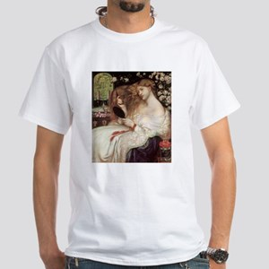 Lady Lilith by Dante Rossetti White T-Shirt