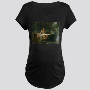 Lady of Shalott by JW Waterhouse Maternity Dark T-