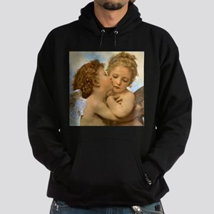First Kiss by Bouguereau Hoodie (dark)