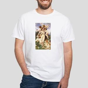 Le Printemps by Bouguereau White T-Shirt