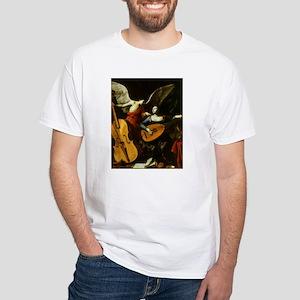 Saint Cecilia and Angel, Saraceni White T-Shirt