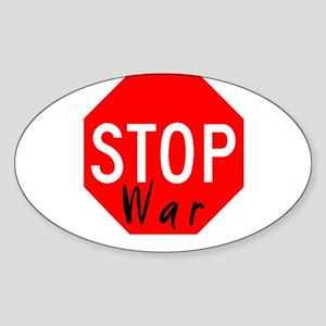 Stop War - Cindy Sheehan Oval Sticker