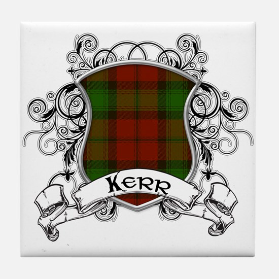 Kerr Tartan Shield Tile Coaster