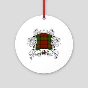 Kerr Tartan Shield Ornament (Round)
