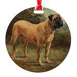 Vintage Mastiff Art Ornament