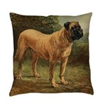 Vintage Mastiff Art Everyday Pillow
