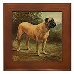 Vintage Mastiff Art Framed Tile