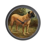 Vintage Mastiff Art Wall Clock