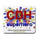 CDH Superhero Stars Logo for Boys Mousepad